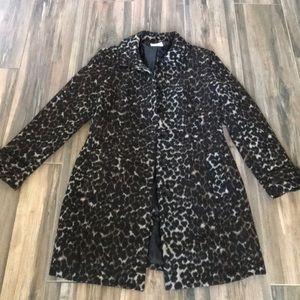 Leopard Print winter dress coat/jacket Old Navy